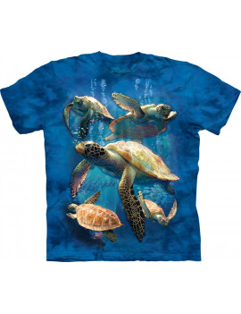 Sea Turtle Family T-Shirt The Mountain