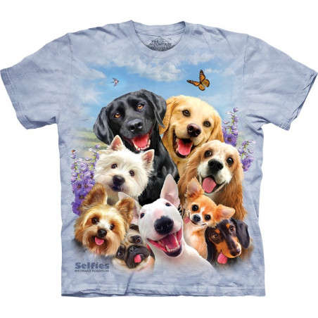Dogs Selfie T-Shirt The Mountain