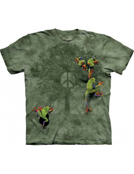 Peace Tree Frog T-Shirt The Mountain