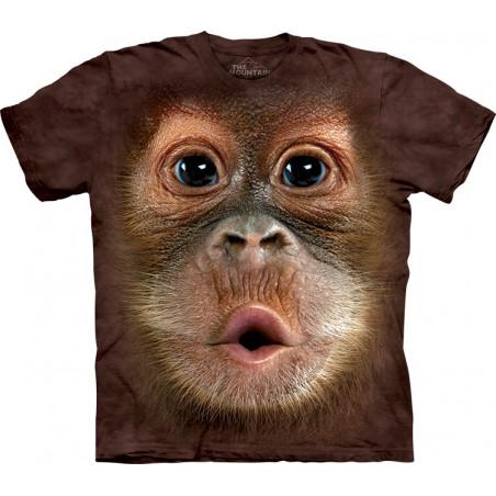 Big Face Baby Orangutan