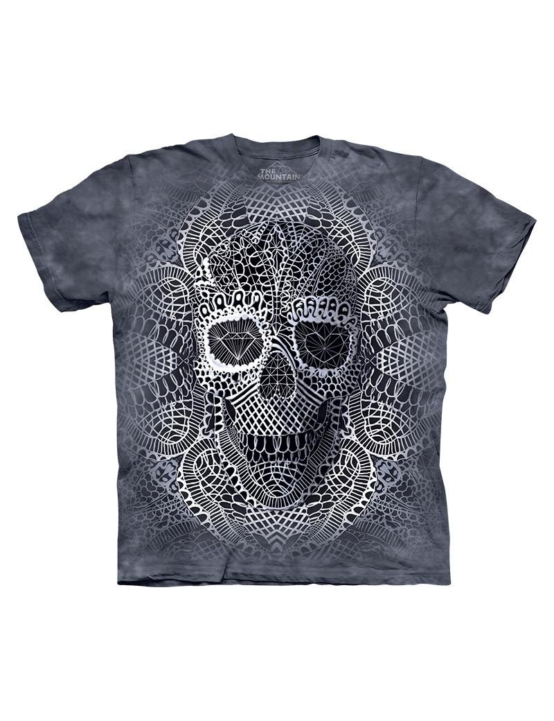 Lace Skull T-Shirt The Mountain - tshirthd.com