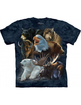 Wild Alaskan Collage T-Shirt The Mountain