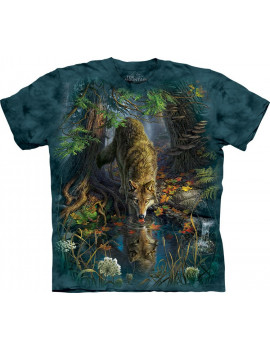 Enchanted Wolf Pool T-Shirt The Mountain