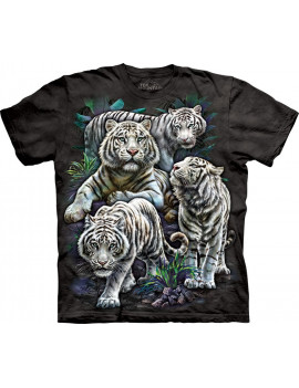 Majestic White Tigers T-Shirt The Mountain